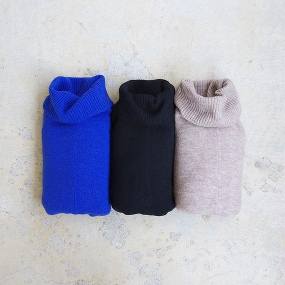 i c h i 180483 Mohair Knit Turtle Neck Pullover / Black