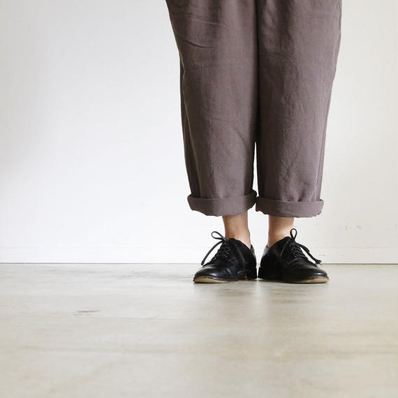 i c h i 180529 Cotton / Linen Relax Pants / Brown