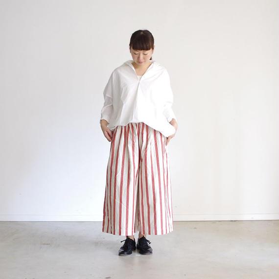 i c h i 181031 C/L Stripe Pants / Red