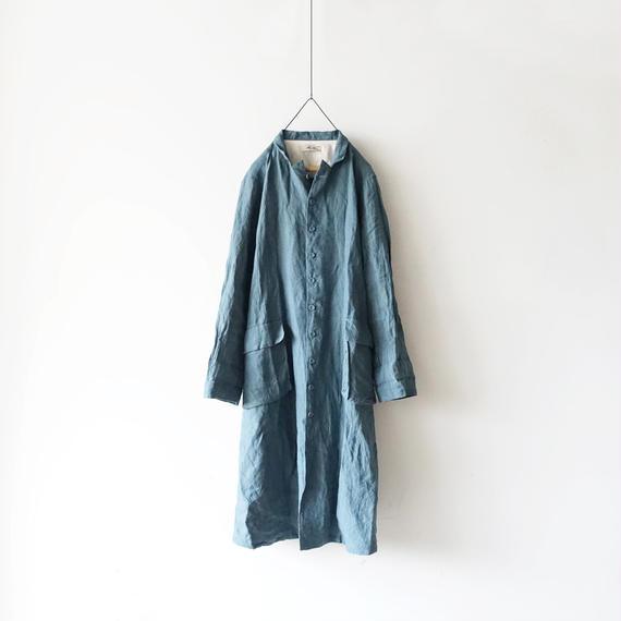 ichiAntiquités 100902  Linen Coat / BLUE
