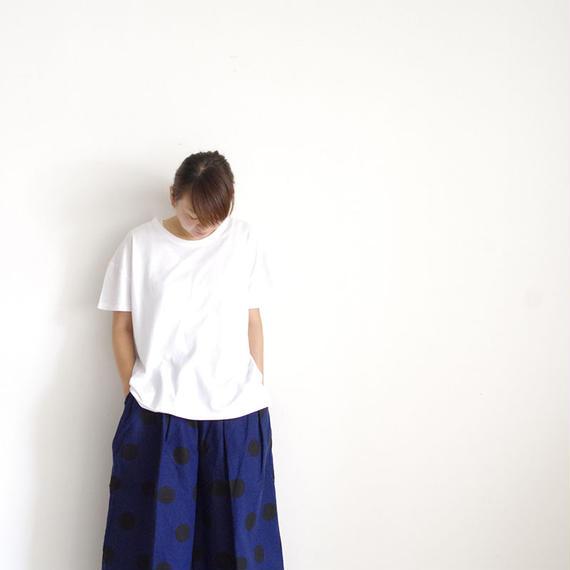 【オンラインストア限定】i c h i 180763 Pigment Dye Cotton Pullover / White
