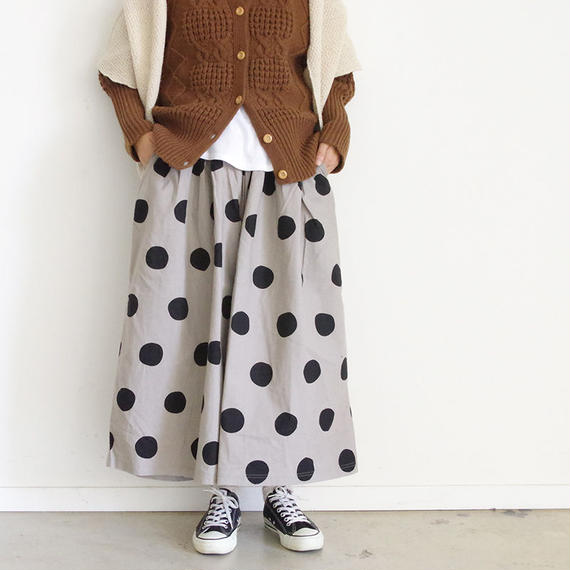 i c h i 180433 Cotton / Linen Dot Pants / Natural