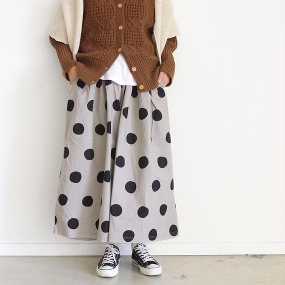 i c h i 180433 Cotton / Linen Dot Pants / Natural