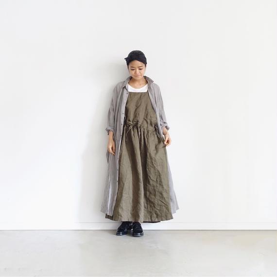 ichiAntiquités 100929 Linen Chino 2way Dress / KHAKI