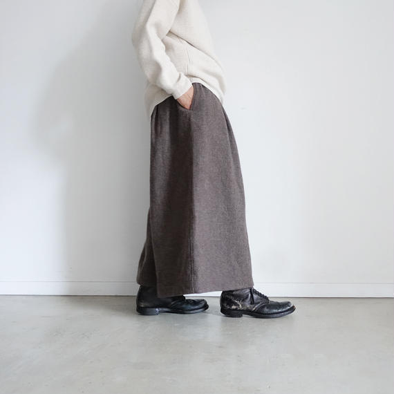ichiAntiquités 100625 Wool mix Tweed Pants / BROWN