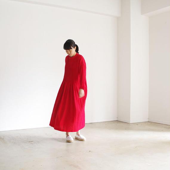 i c h i 181012 Pin Tuck Dress / Red