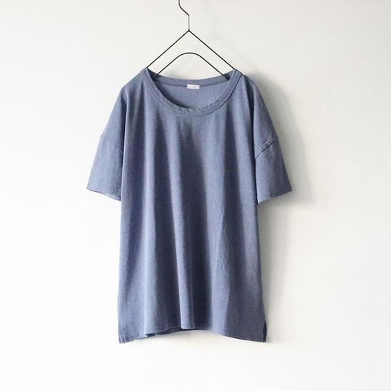 【オンラインストア限定】i c h i 180763 Pigment Dye Cotton Pullover / Blue