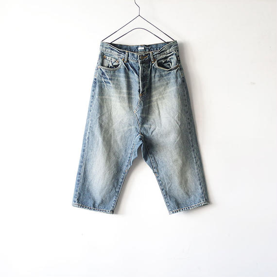 i c h i 140434 Denim Sarrouel Pants / Light
