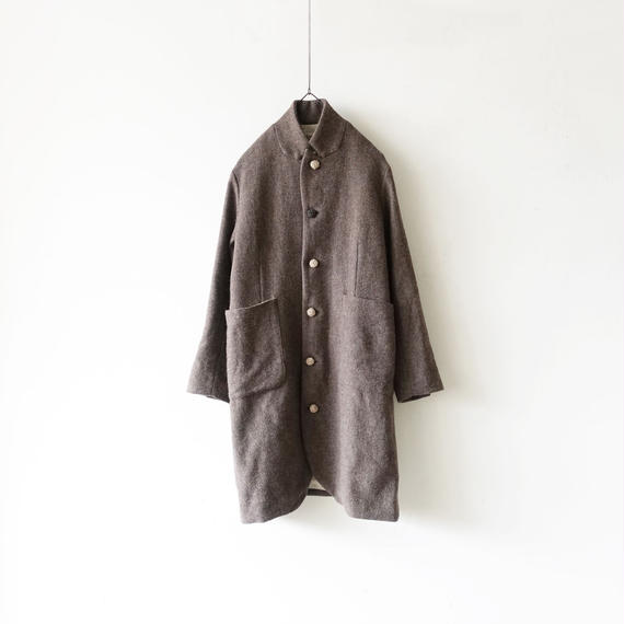 ichiAntiquités 100624 Wool mix Tweed Jacket Coat / BROWN