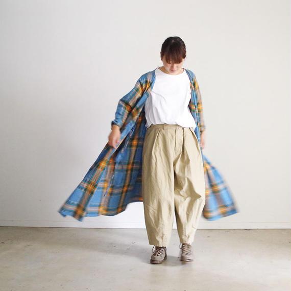 i c h i 180721 Indigo Tartan Cache Coeur Dress / Light