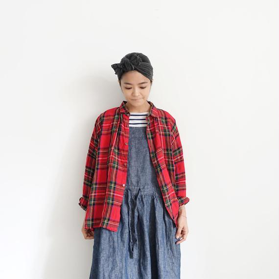 ichiAntiquités 100605 LinenTartan Shirt / RED