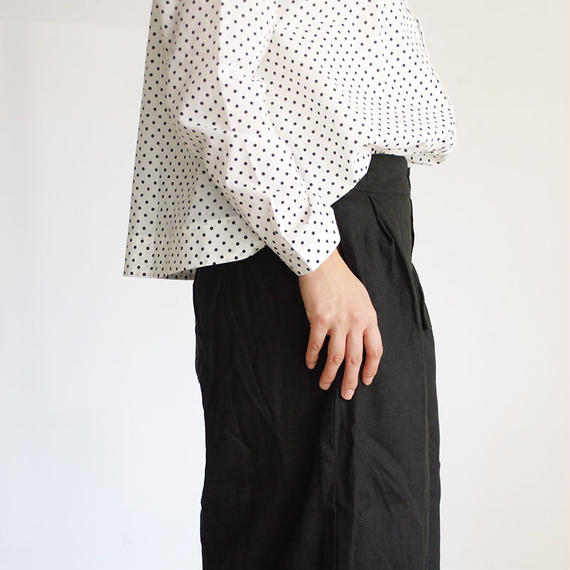 i c h i 181037 Linen Pants / Black