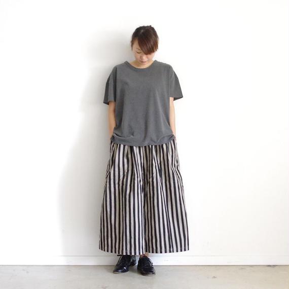 【オンラインストア限定】i c h i 180763 Pigment Dye Cotton Pullover / Charcoal
