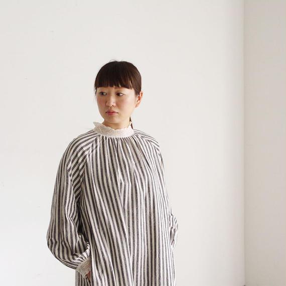 i c h i 181024 C/L Stripe Dress / Black