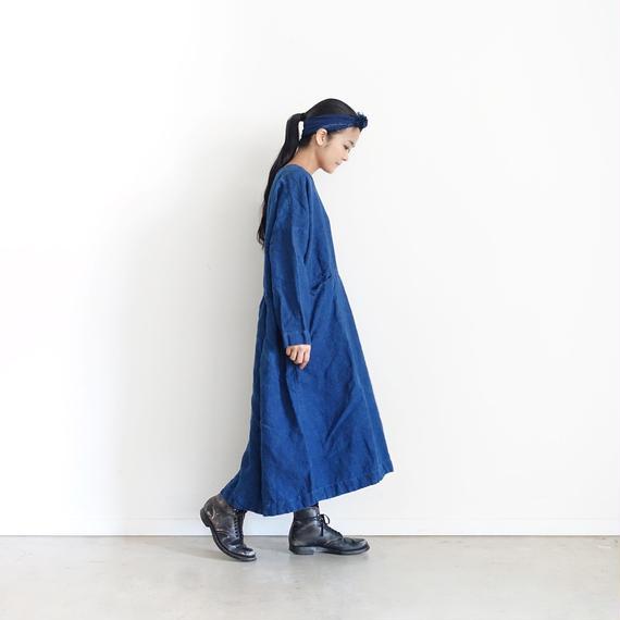 ichiAntiquités 100603 Linen Dress / INDIGO
