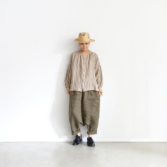 ichiAntiquités 100930 Linen Chino Pants / KHAKI