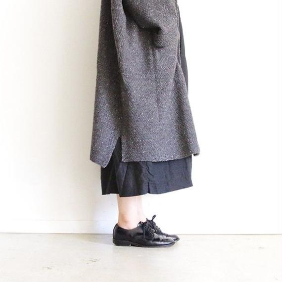 i c h i 180481 Hand Spin Yarn Long Cardigan / Charcoal