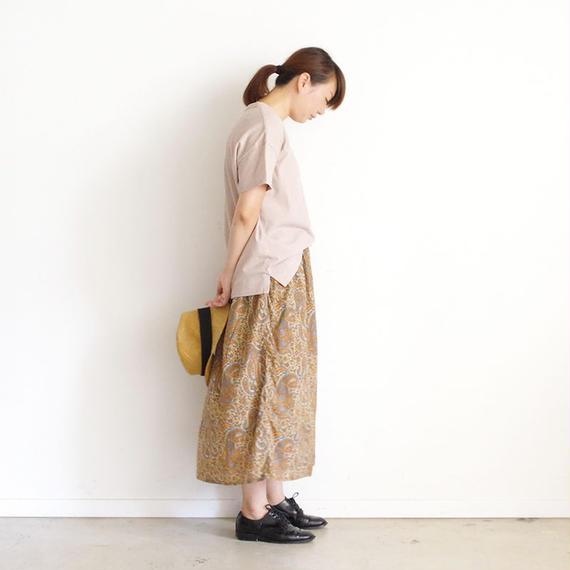【オンラインストア限定】i c h i 180763 Pigment Dye Cotton Pullover / Beige