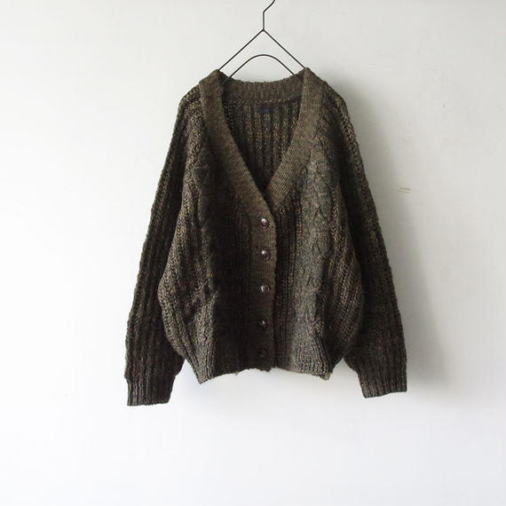 i c h i 180670 Cable Knit Cardigan / Khaki