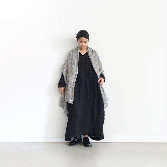 ichiAntiquités 500119  Linen Voile Dress / BLACK