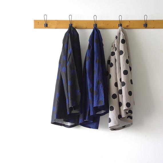 i c h i 180433 Cotton / Linen Dot Pants / Black