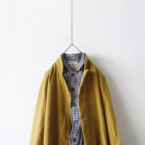 ichiAntiquités 100313 Linen Wool Single Coat / YELLOW