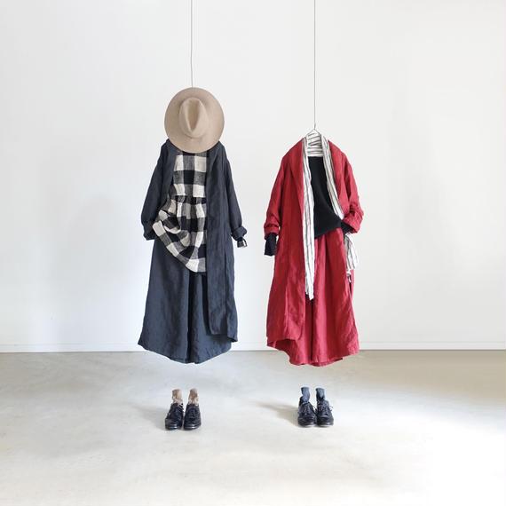 ichiAntiquités 100621 Linen Robe / CHARCOAL