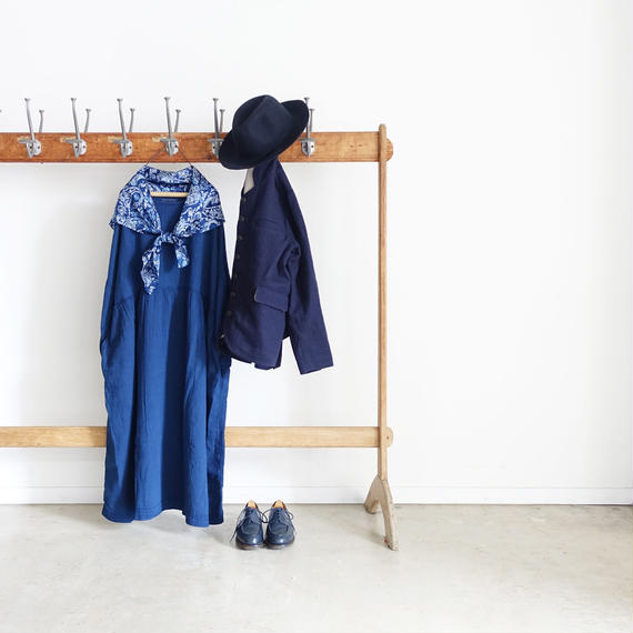 ichiAntiquités 100331 Organic Cotton Double Gauze Dress / INDIGO