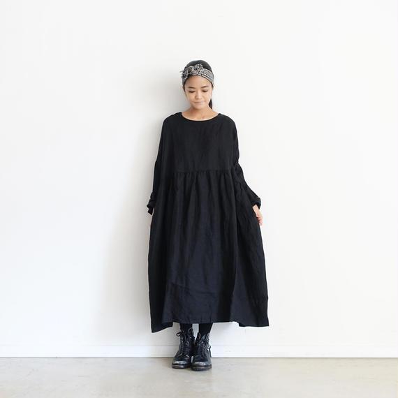ichiAntiquités 100316 Linen Dress / BLACK
