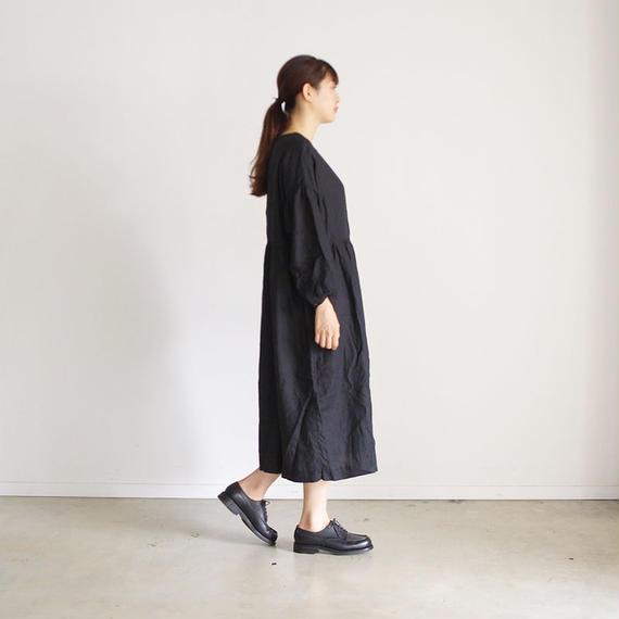 i c h i 180518 Linen Dress / Black