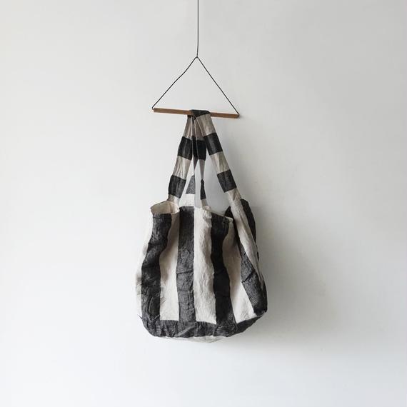 ichiAntiquités 100927 Linen KOTOHIRADAKI Bag / STRIPE