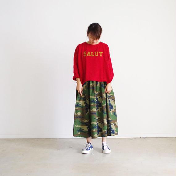 i c h i 180538 Rip Stop Skirt / Camouflage Dark