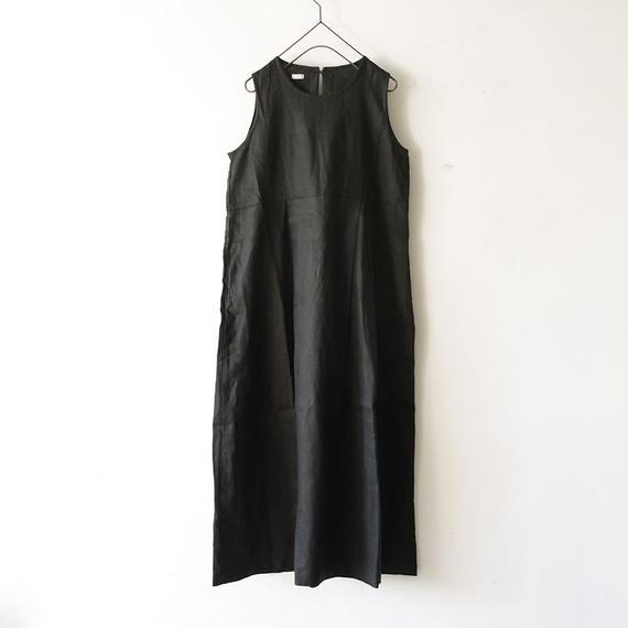 i c h i 181036 Linen No Sleeve Dress / Black