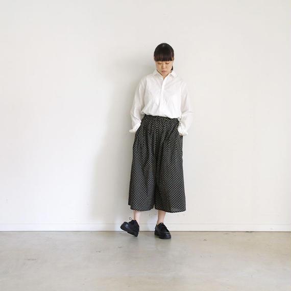 i c h i 181009 Dot Wide Pants  / Black