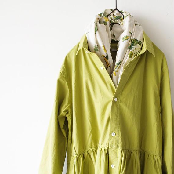 i c h i 181003 Cotton Typewriter Shirts Dress / Green