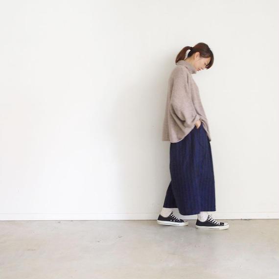 i c h i 180435 Cotton / Linen Stripe Pants / Navy
