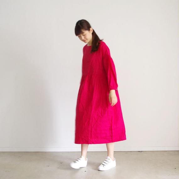 i c h i 180518 Linen Dress / Red