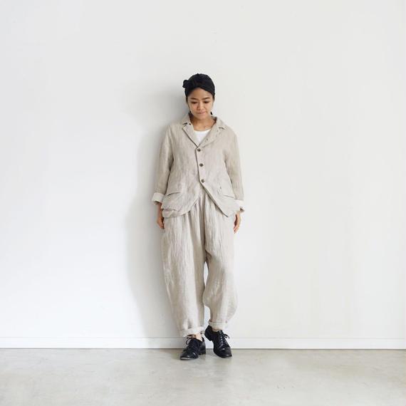 ichiAntiquités 100924  Linen AZUMADAKI Pants / NATURAL