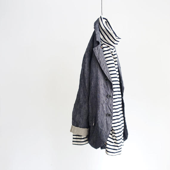 ichiAntiquités 100306 Linen Dungaree Jacket / PLANE