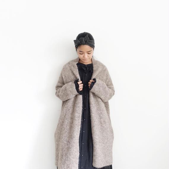 ichiAntiquités 100640 Alpaca mix Knit Long Cardigan / BEIGE