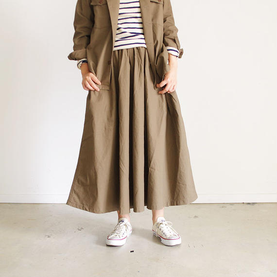 i c h i 180538 Rip Stop Skirt / Brown