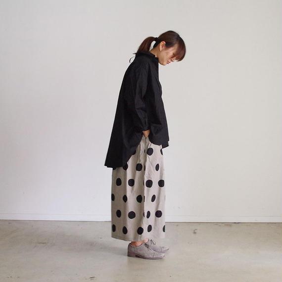 i c h i 180420 Cotton/Linen Lace-up Shirts / Black