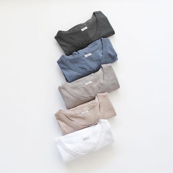 【オンラインストア限定】i c h i 180763 Pigment Dye Cotton Pullover / Gray