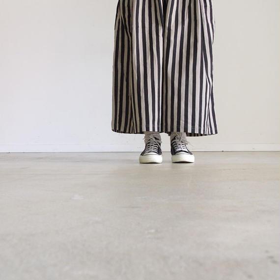i c h i 180435 Cotton / Linen Stripe Pants / Natural