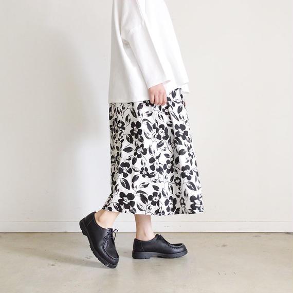 i c h i 181108 Cotton Flower Skirt / Black