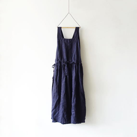 ichiAntiquités 100929 Linen Chino 2way Dress / NAVY