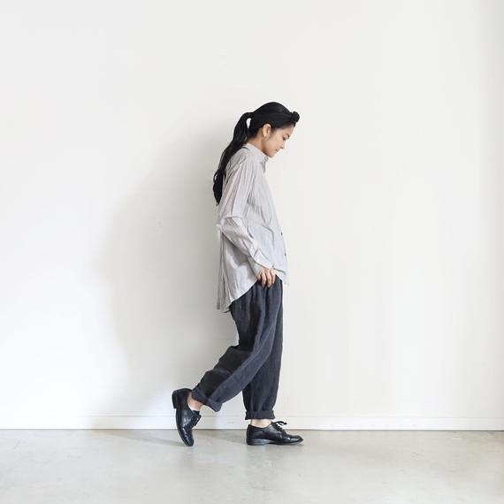 ichiAntiquités 100924  Linen AZUMADAKI Pants / CHARCOAL