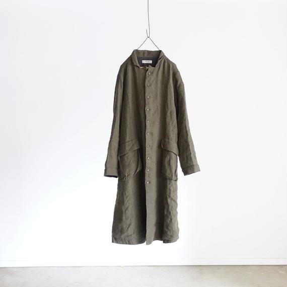 ichiAntiquités 100313 Linen Wool Single Coat / KHAKI