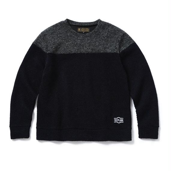 2-TONE KNIT SWEATER