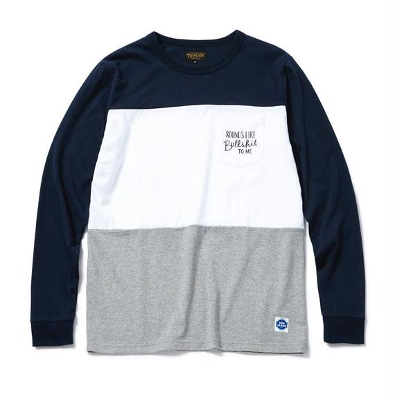 L/S PANNEL BORDER TEE